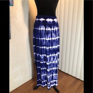 CHICOS ELECTRIC BLUE GORGEOUS MAXI SKIRT